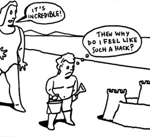 bruce-eric-kaplan-it-s-incredible-then-why-do-i-feel-like-such-a-hack-new-yorker-cartoon